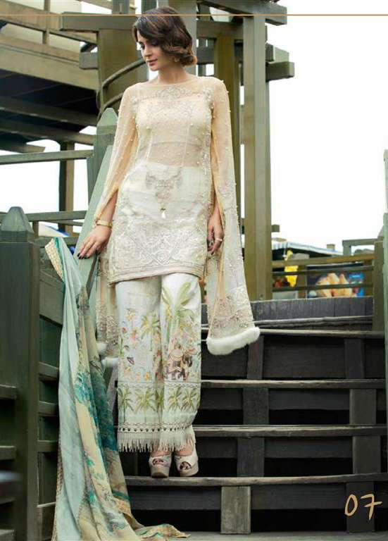 Erum Khan By Zohan Embroidered Chiffon Unstitched 3 Piece Suit EK17E2 07