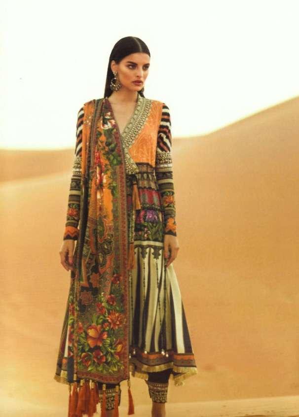 Elan Embroidered Silk Unstitched 3 Piece Suit EL17W Yasmin