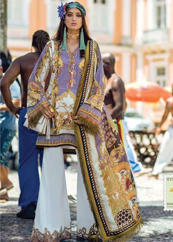 Elan Embroidered Lawn Unstitched 3 Piece Suit EL18L 3B - Spring / Summer Collection