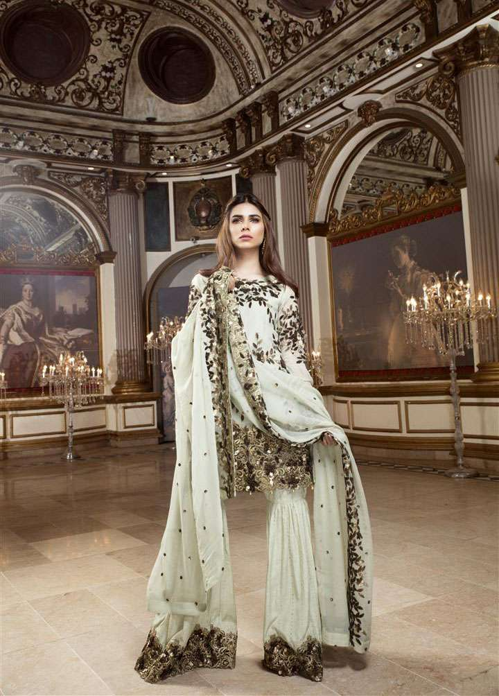 EmbRoyal Embroidered Chiffon Unstitched 3 Piece Suit EM17C Bella Queen