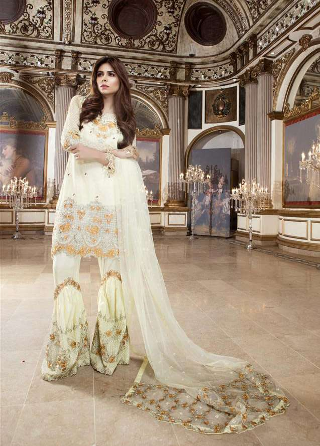 EmbRoyal Embroidered Chiffon Unstitched 3 Piece Suit EM17C Mellow Lime