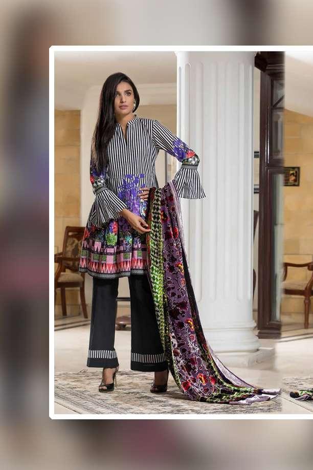 ZS Textile Printed Khaddar Unstitched 3 Piece Suit EM17W2 06