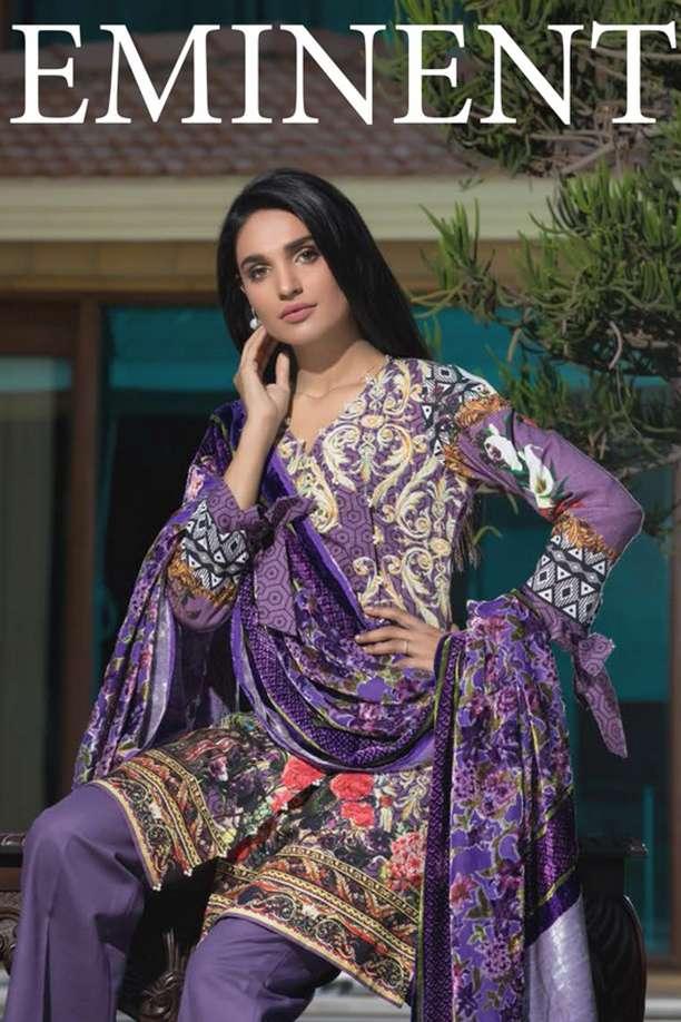 ZS Textile Printed Khaddar Unstitched 3 Piece Suit EM17W2 09