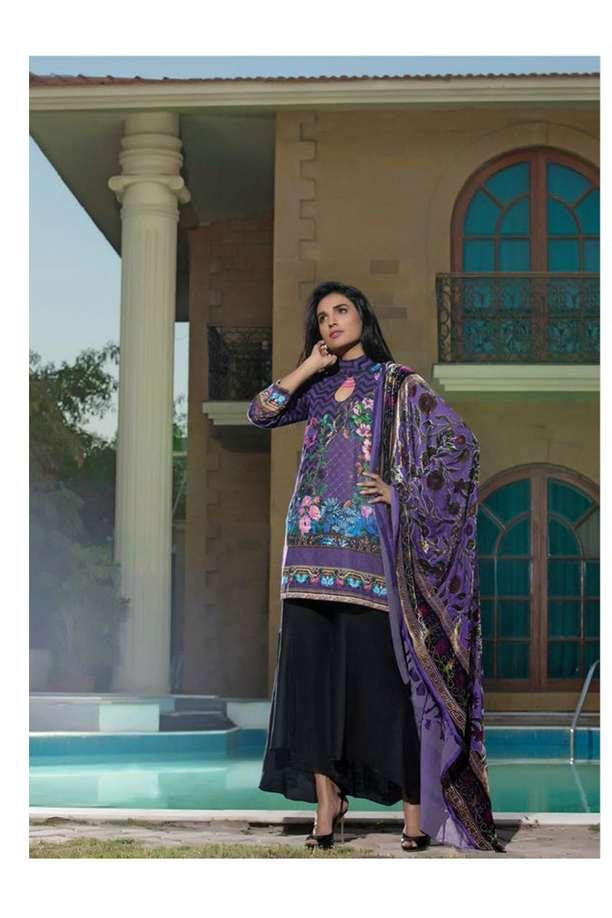 ZS Textile Printed Khaddar Unstitched 3 Piece Suit EM17W2 11