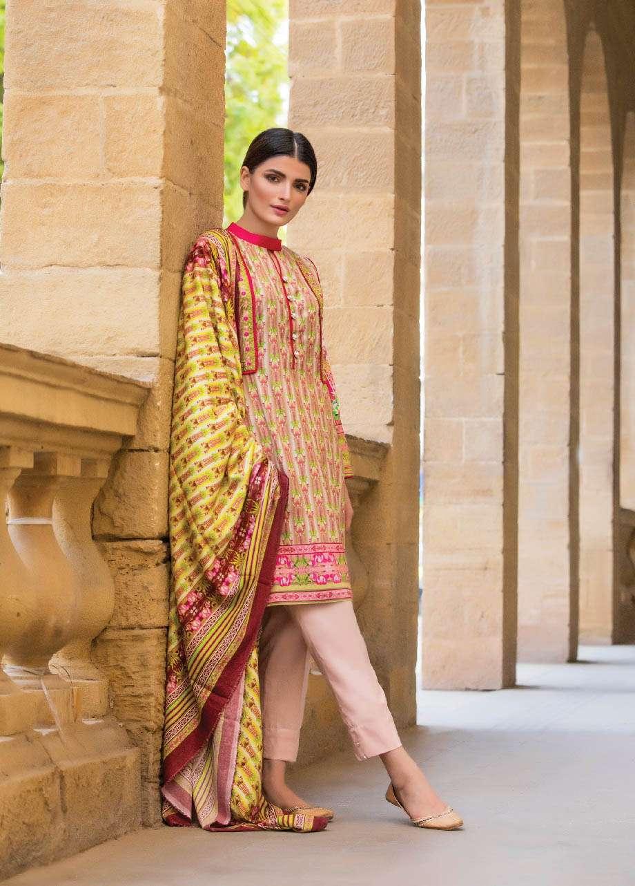 ZS Textile Embroidered Linen Unstitched 3 Piece Suit EM17W 01