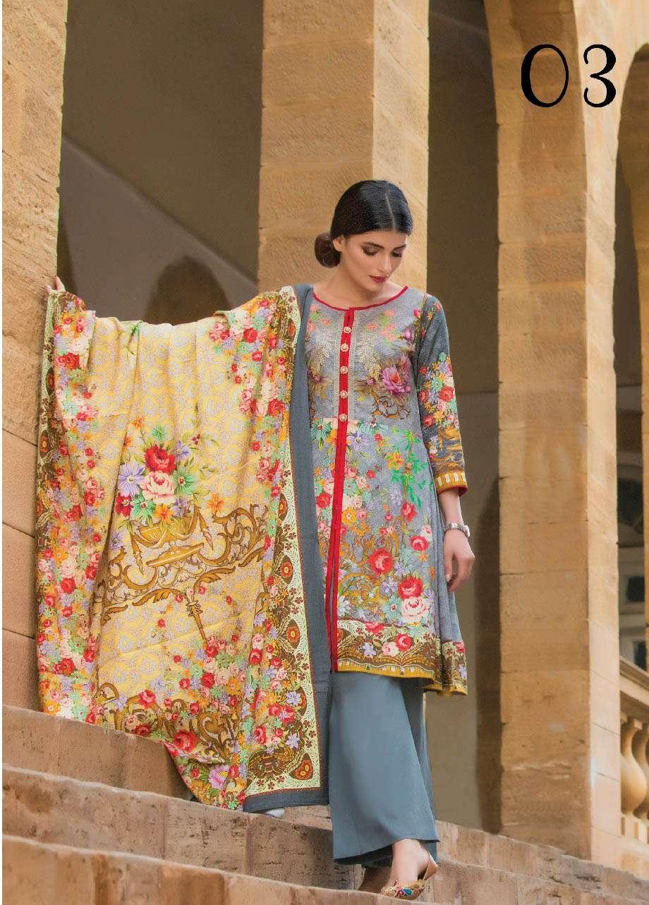 ZS Textile Embroidered Linen Unstitched 3 Piece Suit EM17W 03