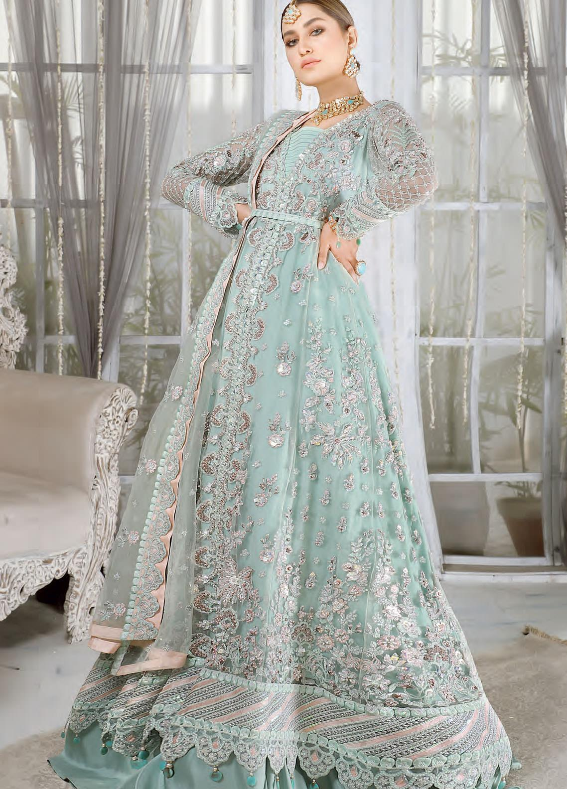 Mahermah by Emaan Adeel Embroidered Net Unstitched 3 Piece Suit EA21M 06 Rang-e-Aab - Bridal Collection