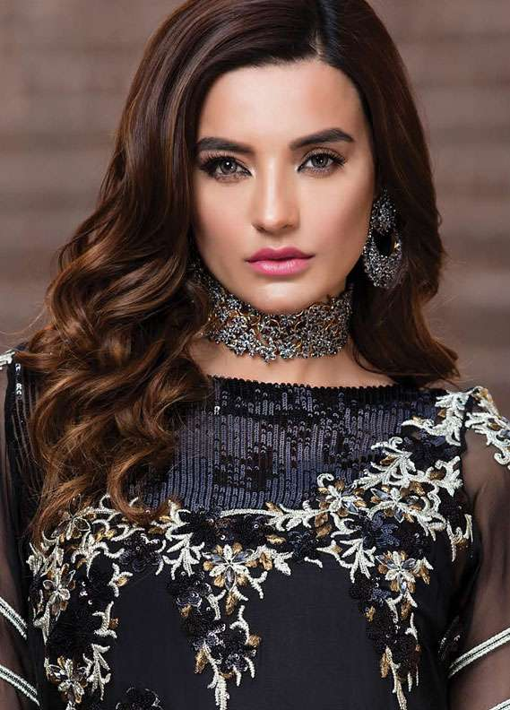 EmbRoyal Embroidered Chiffon Unstitched 3 Piece Suit EMB18C 09 Dark Mystery - Festive Collection