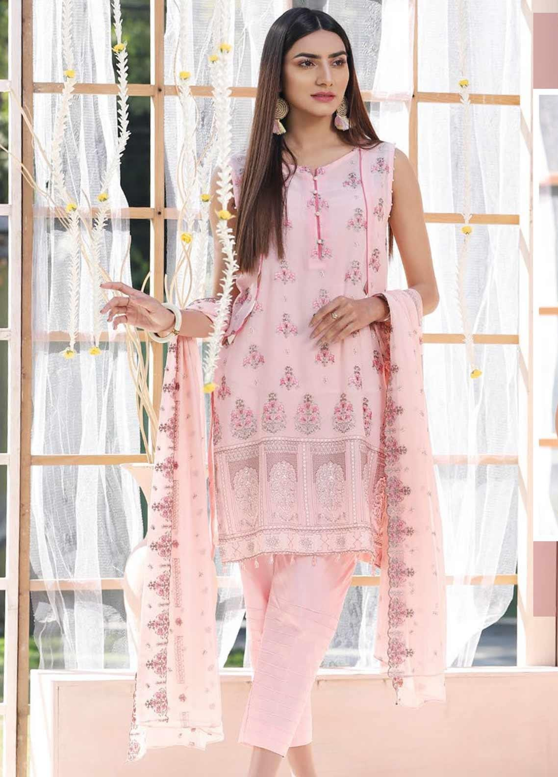 Puri Fabrics Embroidered Lawn Unstitched 3 Piece Suit PF20J 04 - Luxury Collection