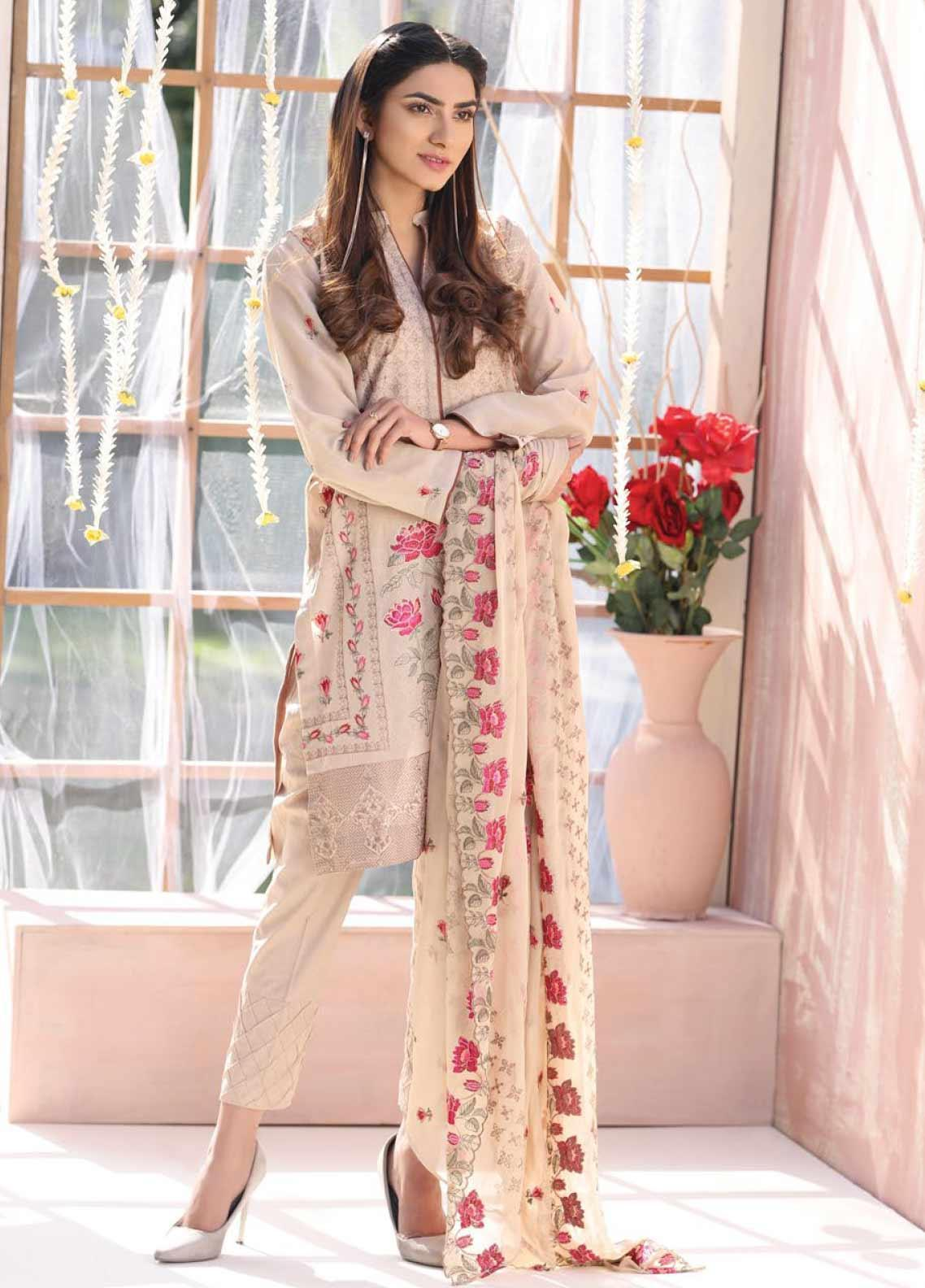 Puri Fabrics Embroidered Lawn Unstitched 3 Piece Suit PF20J 05 - Luxury Collection