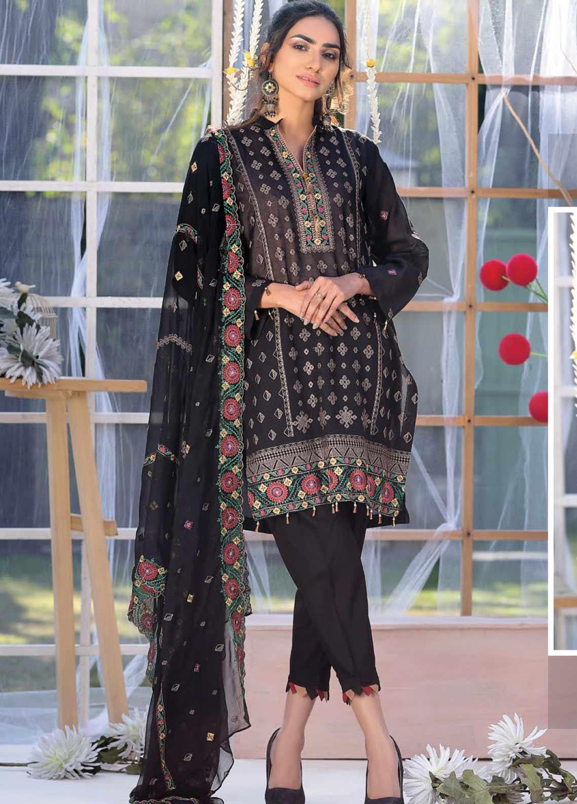Puri Fabrics Embroidered Lawn Unstitched 3 Piece Suit PF20J 06 - Luxury Collection
