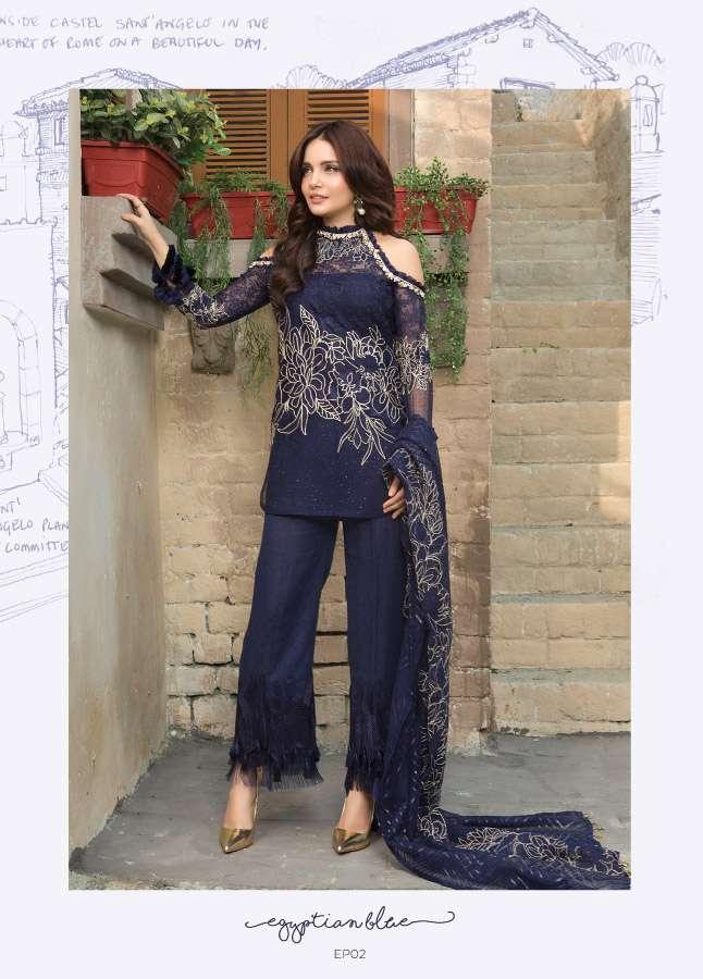 Epoque Suffuse by Sana Yasir Embroidered Chiffon Unstitched 3 Piece Suit ESY17C 02