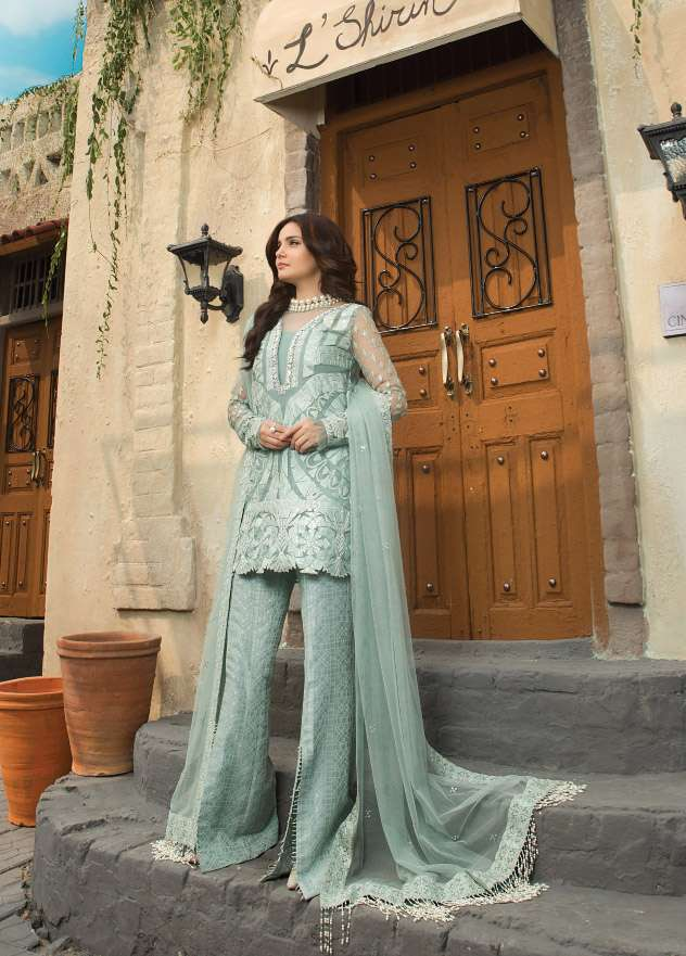 Epoque Suffuse by Sana Yasir Embroidered Organza Unstitched 3 Piece Suit ESY17C 05
