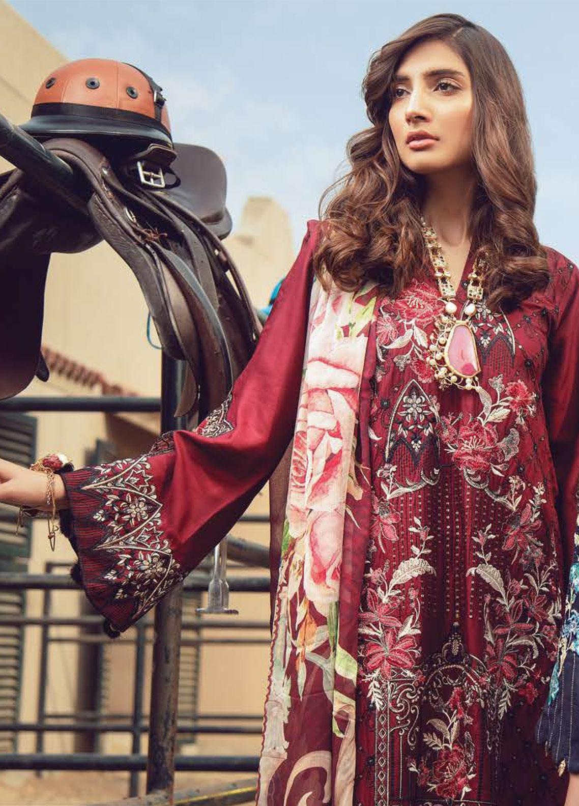 Exotique by Iqra Reza Embroidered Linen Unstitched 3 Piece Suit EX19LN 06 SURREAL - Winter Collection