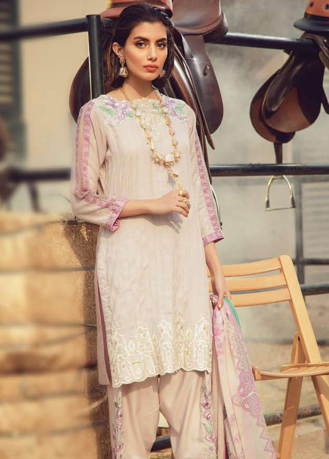Exotique by Iqra Reza Embroidered Linen Unstitched 3 Piece Suit EX19LN 08 ROSEATE - Winter Collection