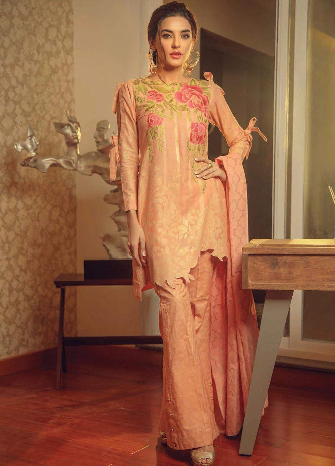 Exotique by Iqra Reza Embroidered Jacquard Unstitched 3 Piece Suit EX19IR MYSTIQUE - Luxury Collection