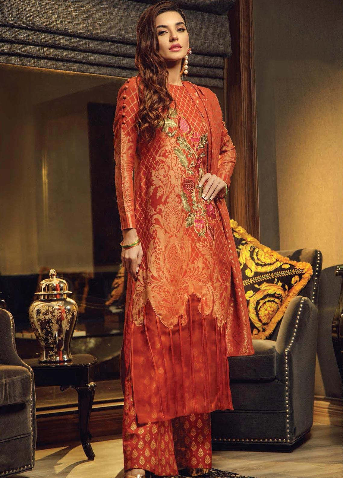 Exotique by Iqra Reza Embroidered Jacquard Unstitched 3 Piece Suit EX19IR SERENITY - Luxury Collection