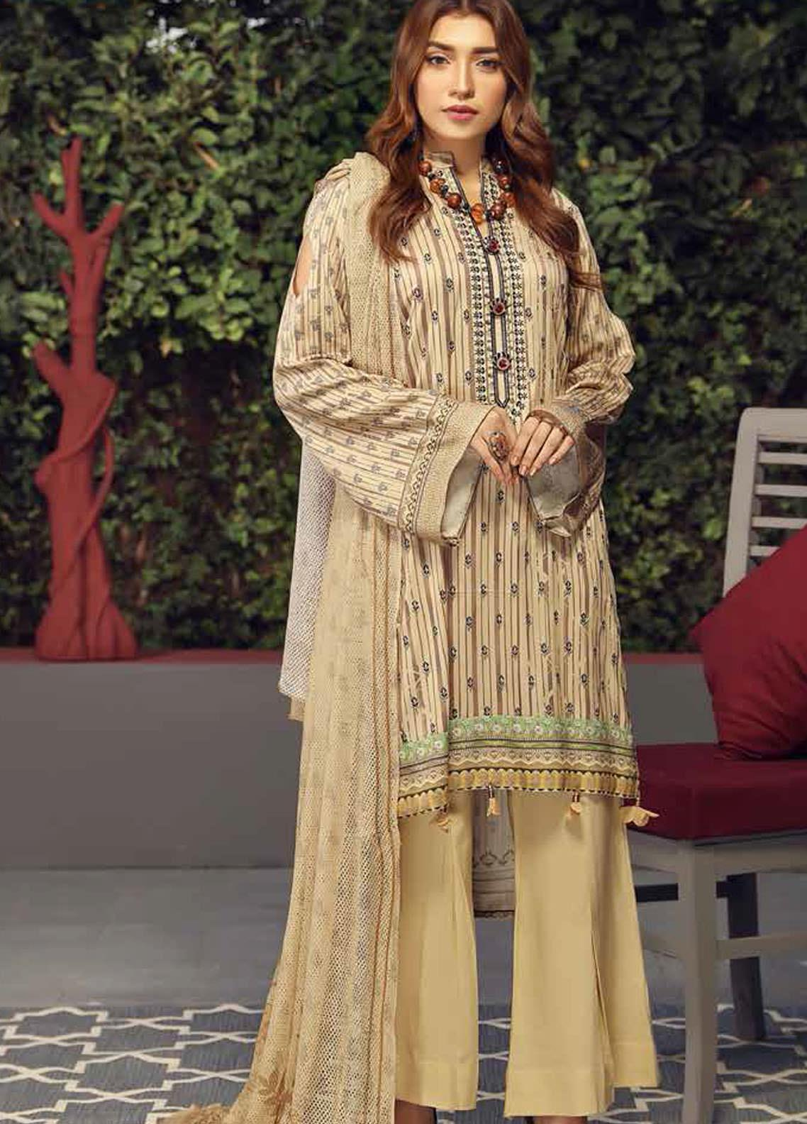 Fabura by Sanam Saeed Embroidered Cottel Unstitched 3 Piece Suit SS2CT 04 - Winter Collection