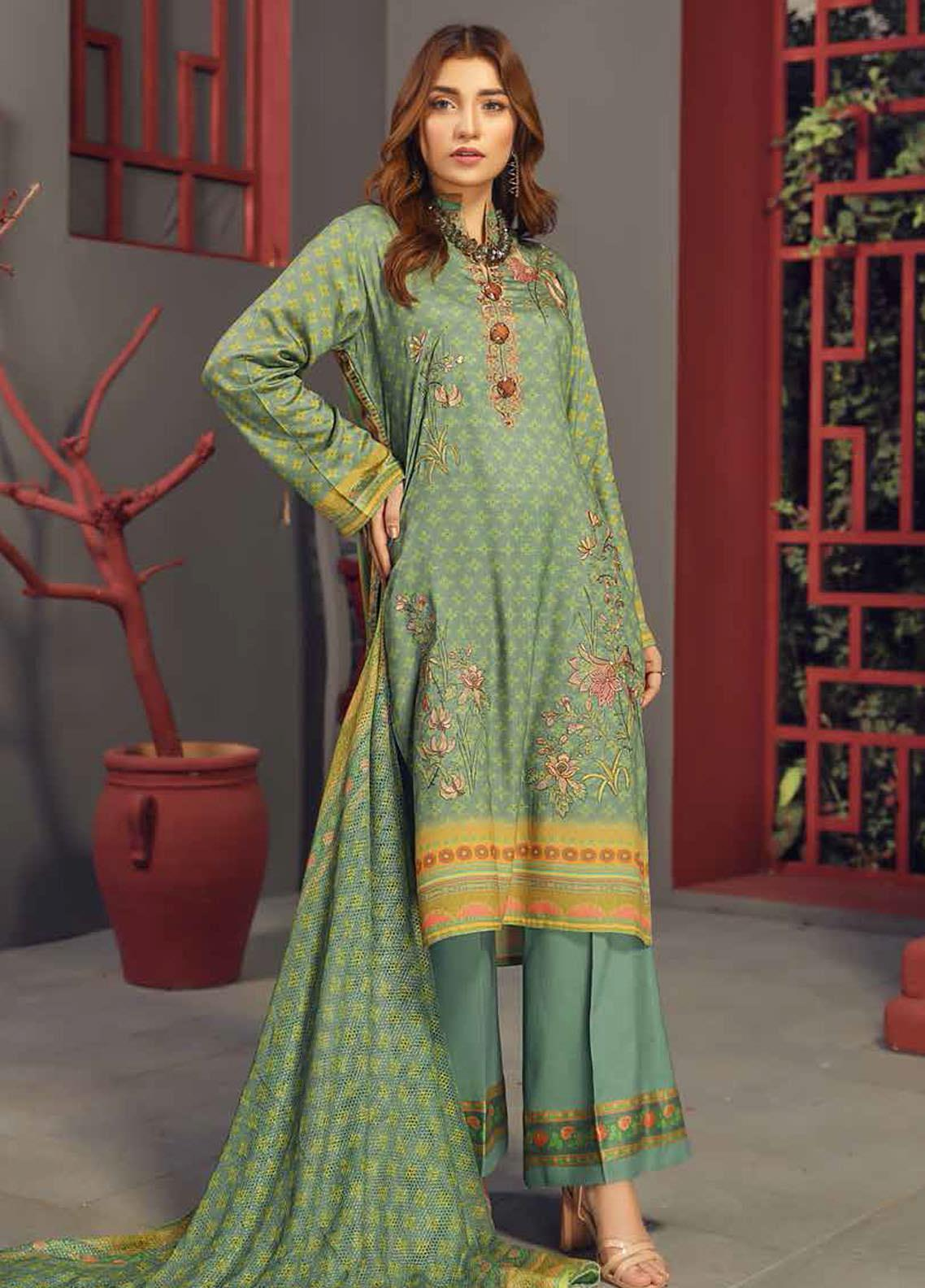 Fabura by Sanam Saeed Embroidered Cottel Unstitched 3 Piece Suit SS2CT 05 - Winter Collection