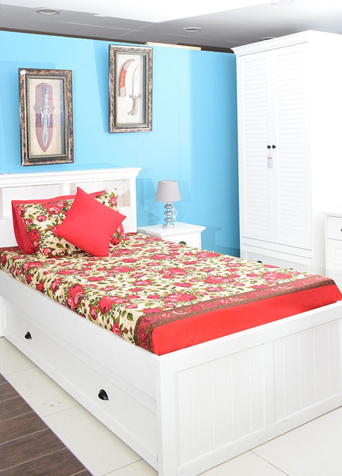 Plush Mink Single Bed Man Made Material Fantasy Bed Sheet Supreme Finish FS01 - Home & Decor