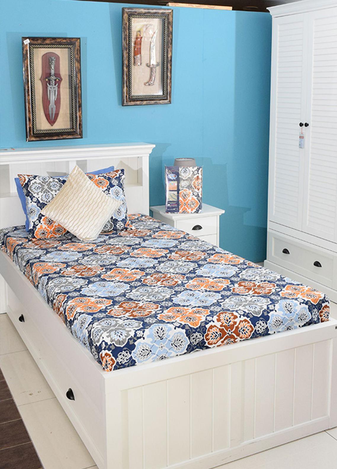 Plush Mink Single Bed Man Made Material Fantasy Bed Sheet Supreme Finish FS04 - Home & Decor