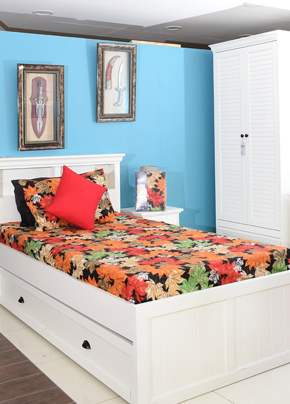Plush Mink Single Bed Man Made Material Fantasy Bed Sheet Supreme Finish FS05 - Home & Decor