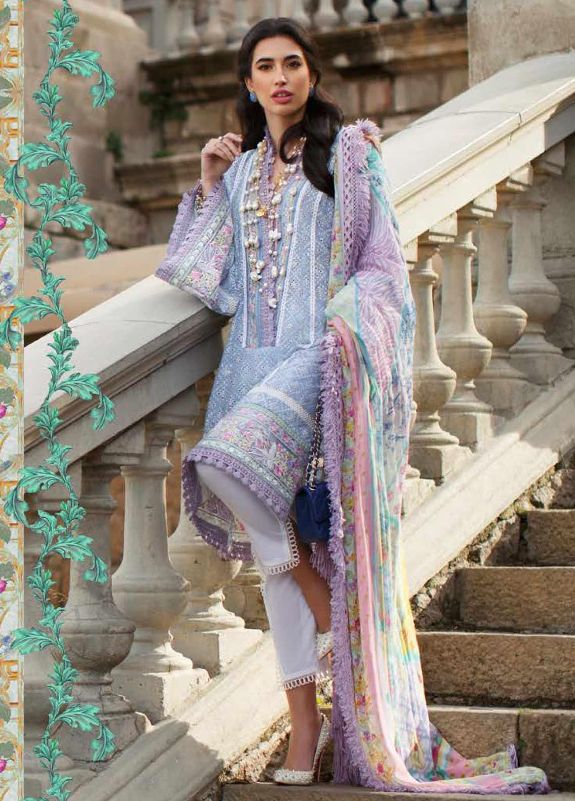 Farah Talib Embroidered Lawn Unstitched 3 Piece Suit FTA20SS 08 Cielo - Spring / Summer Collection