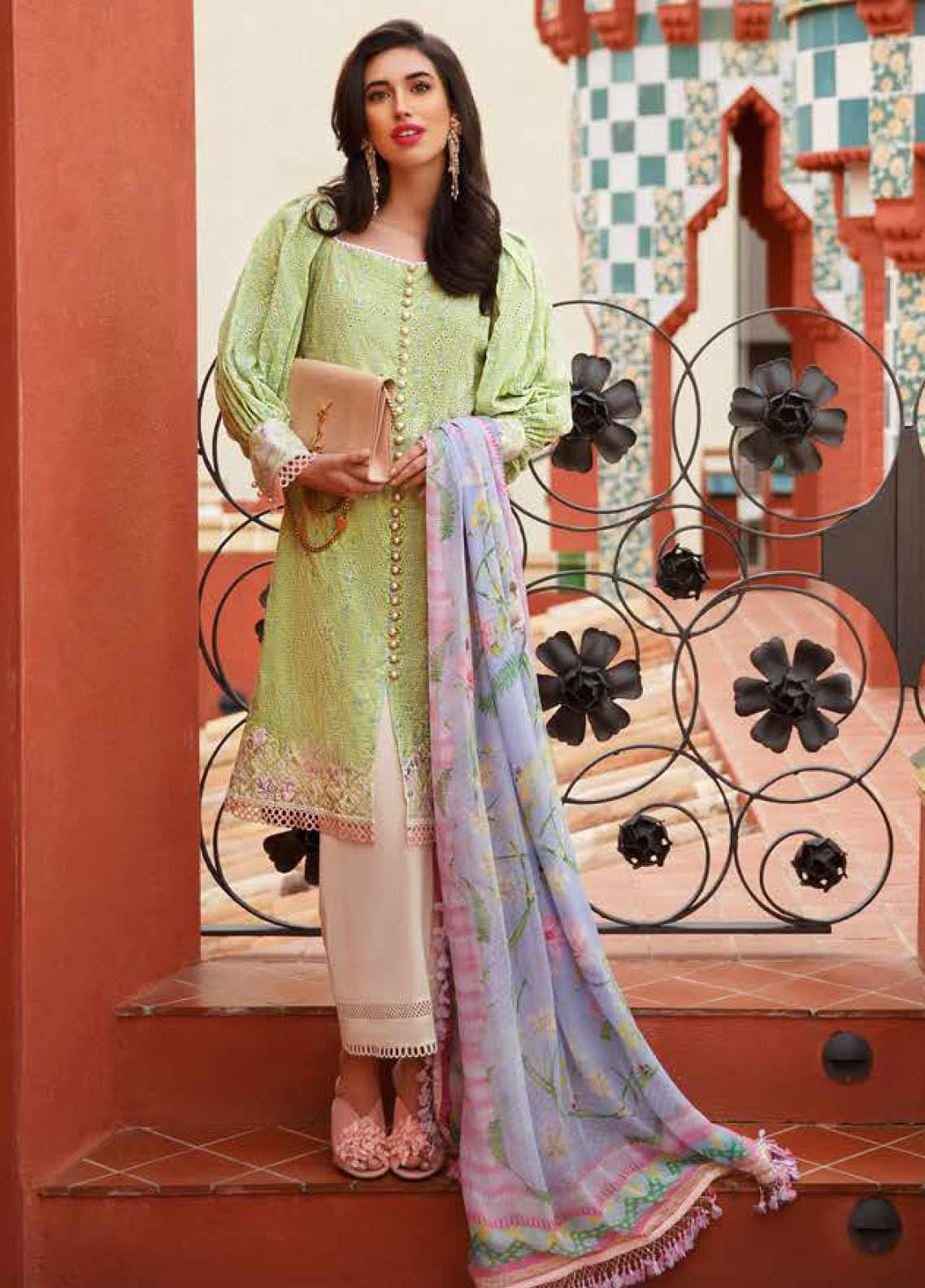 Farah Talib Embroidered Lawn Unstitched 3 Piece Suit FTA20SS 12 Verde - Spring / Summer Collection