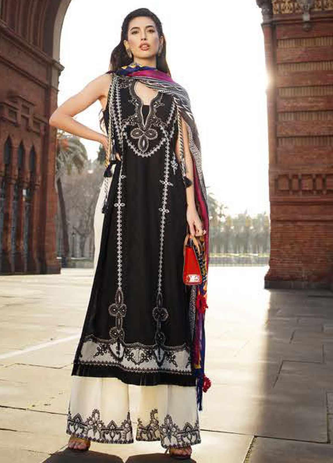 Farah Talib Embroidered Jacquard Unstitched 3 Piece Suit FTA20SS 15 Naira - Spring / Summer Collection
