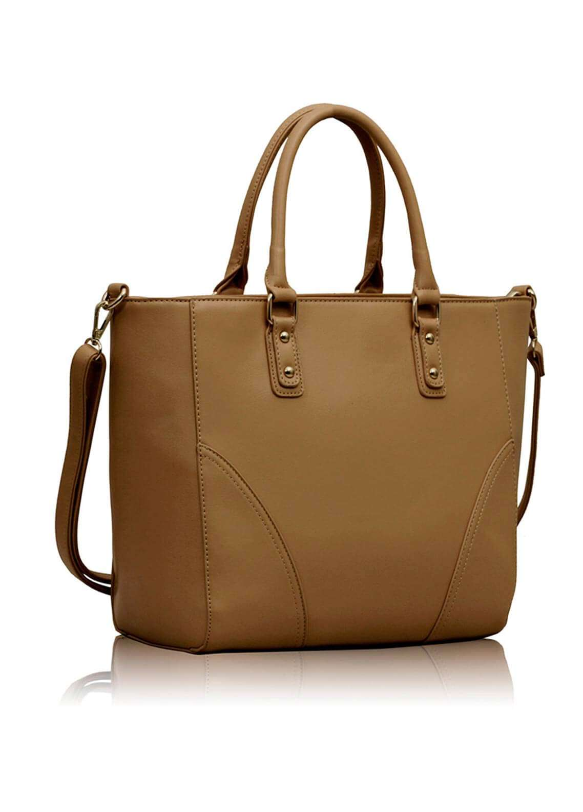 Fashion Only Faux Leather Shoulder  Bags for Woman - Nude
