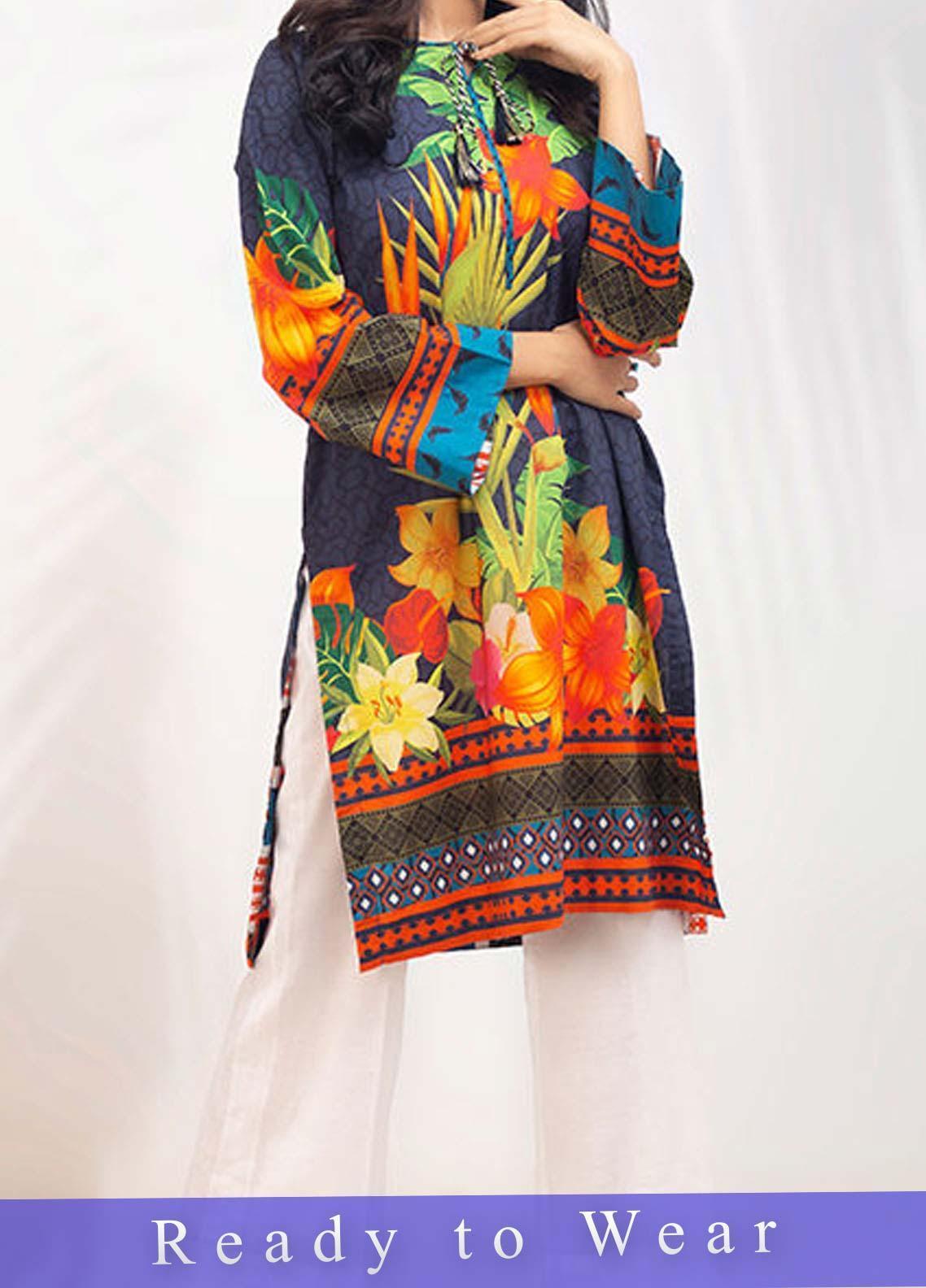 Fateh Printed Cambric Stitched Kurtis FT20PDF D-119