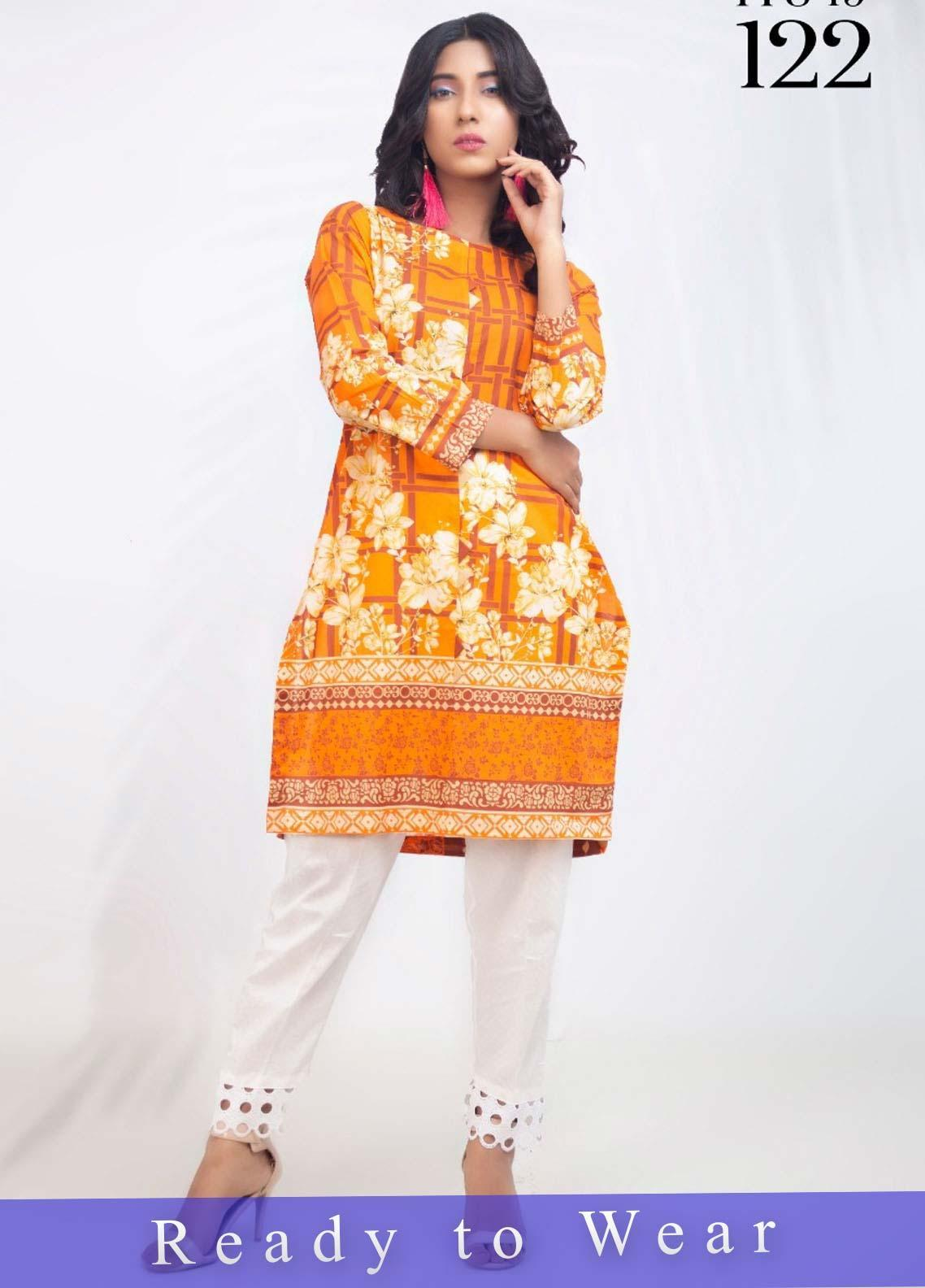 Fateh Printed Cambric Stitched Kurtis FT20PDF D-122