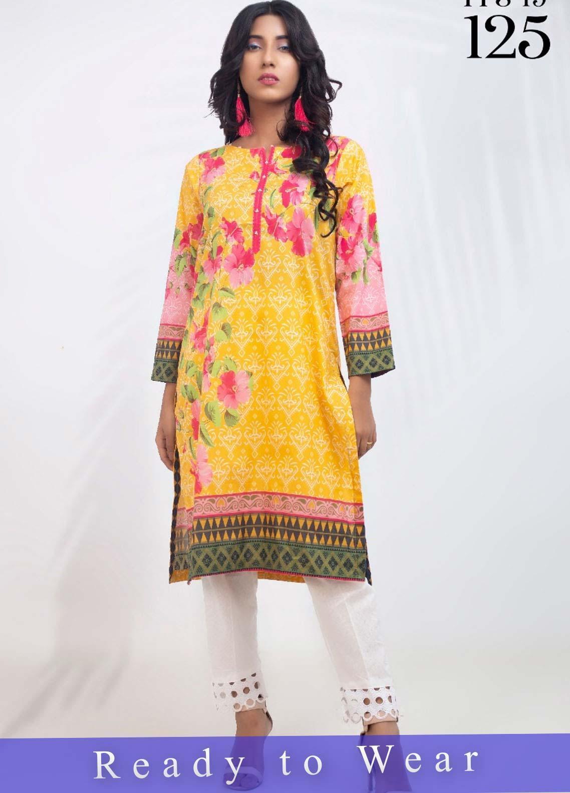 Fateh Printed Cambric Stitched Kurtis FT20PDF D-125