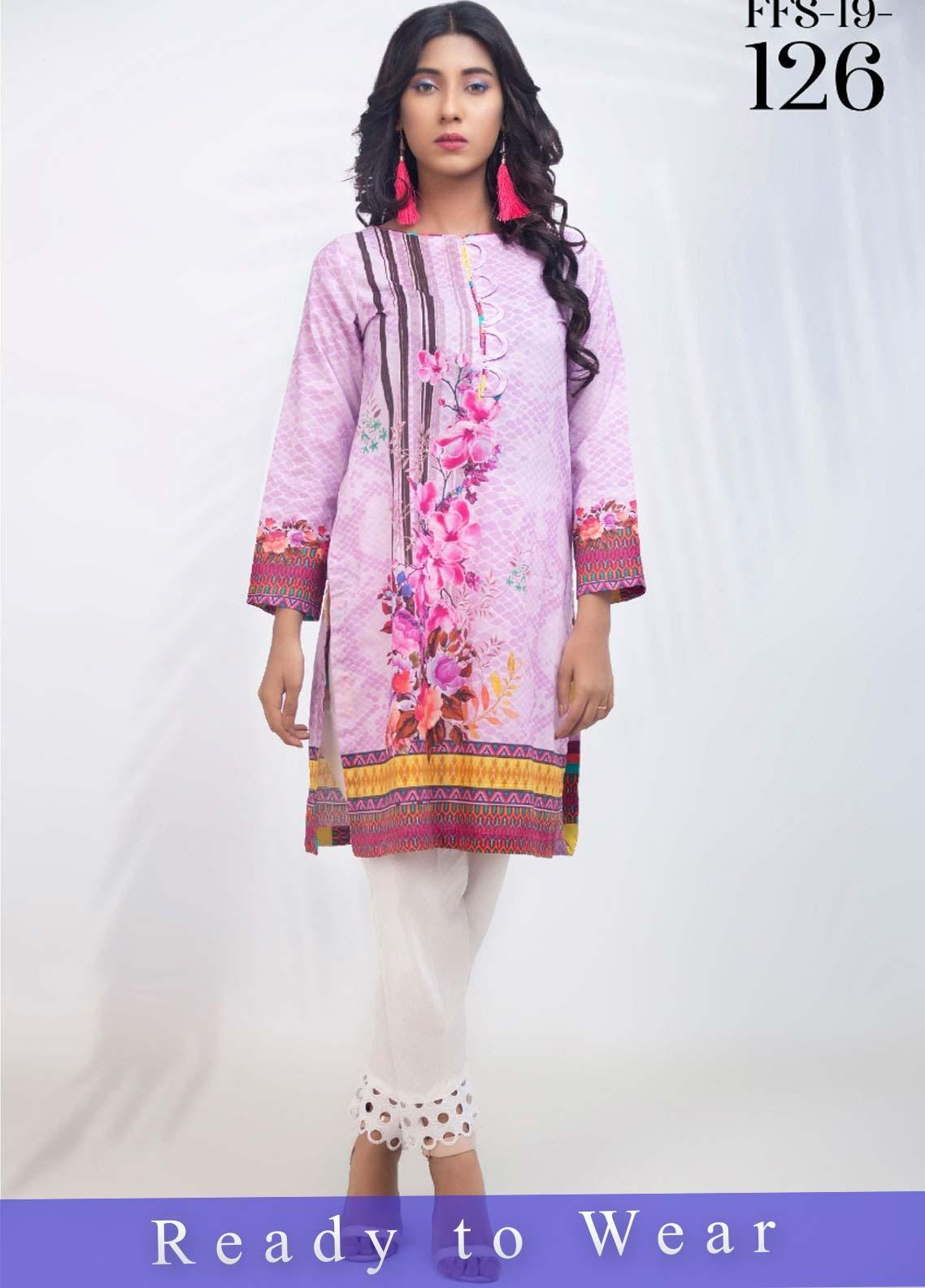 Fateh Printed Cambric Stitched Kurtis FT20PDF D-126