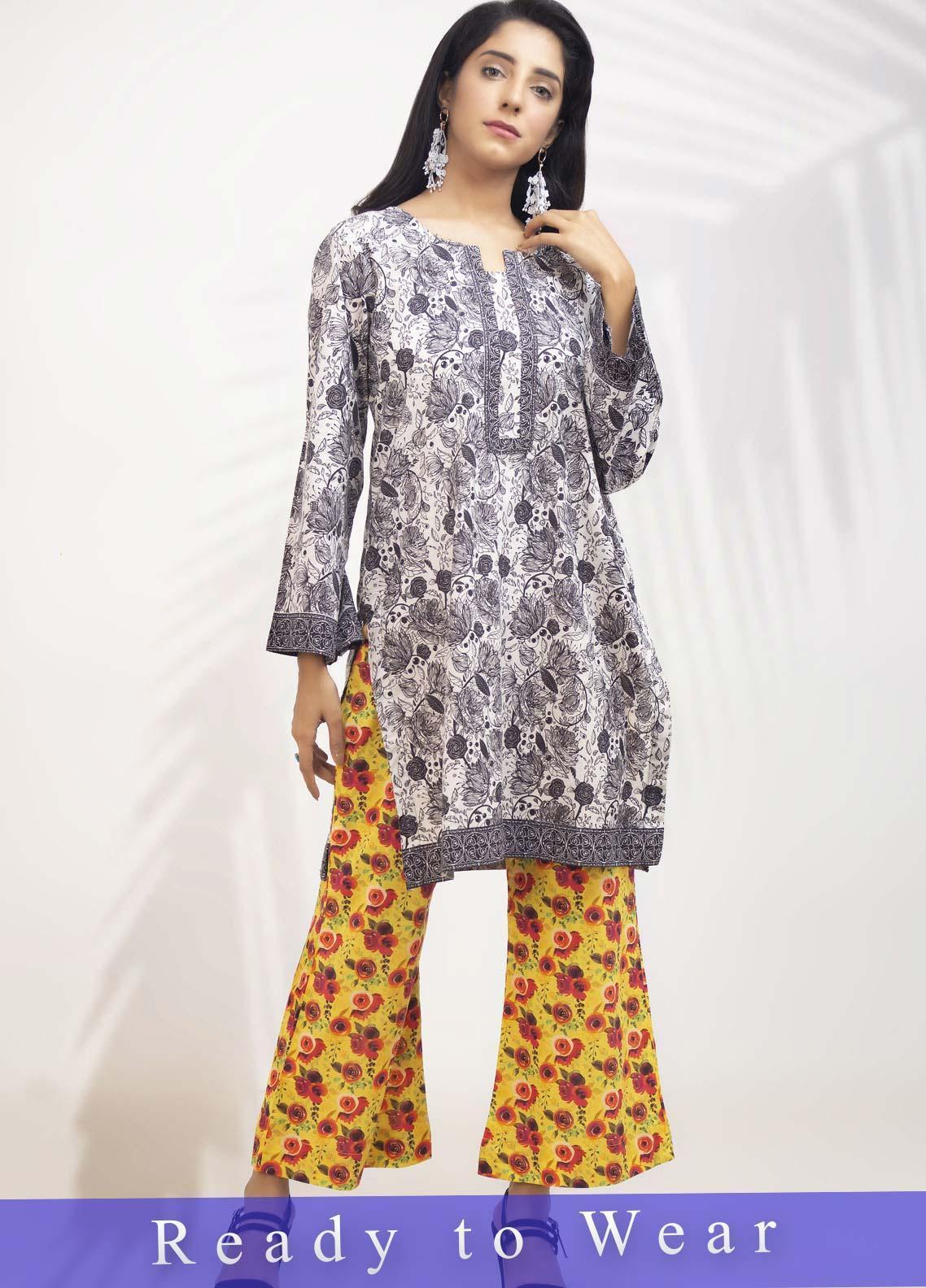 Fateh Printed Cambric Stitched Kurtis FT20PDF D-211