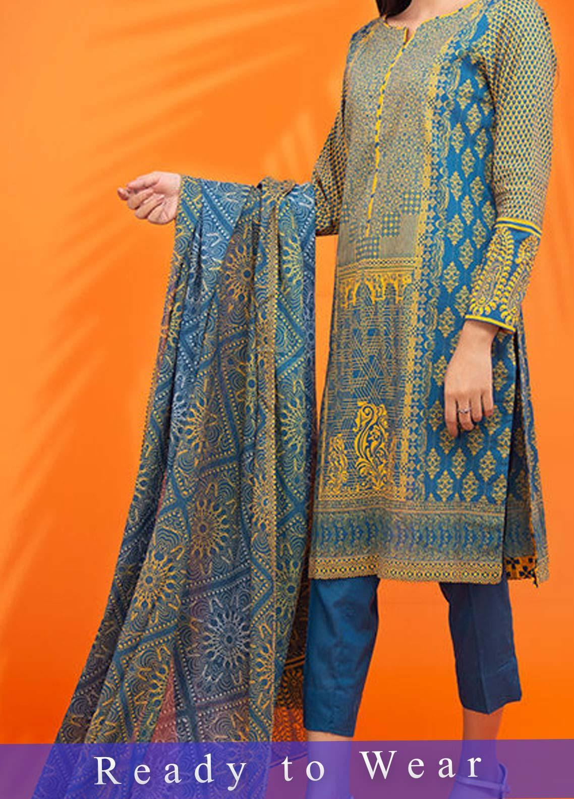 Fateh Printed Cambric Stitched 3 Piece Suit FT20PDF D-617