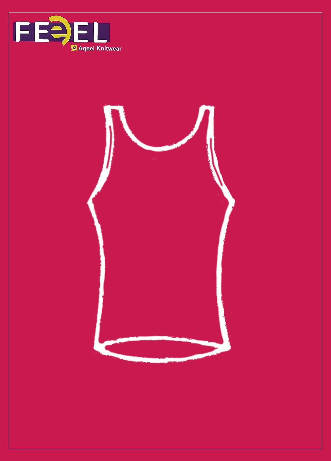 Feel Inner Wear Jersey Body Warmer Sando 1 Fawn Color