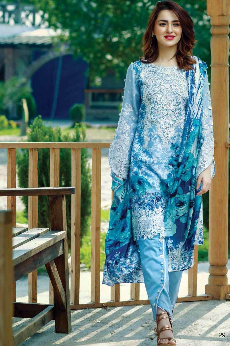 Firdous Fashion Embroidered Lawn Unstitched 3 Piece Suit FI17L 05