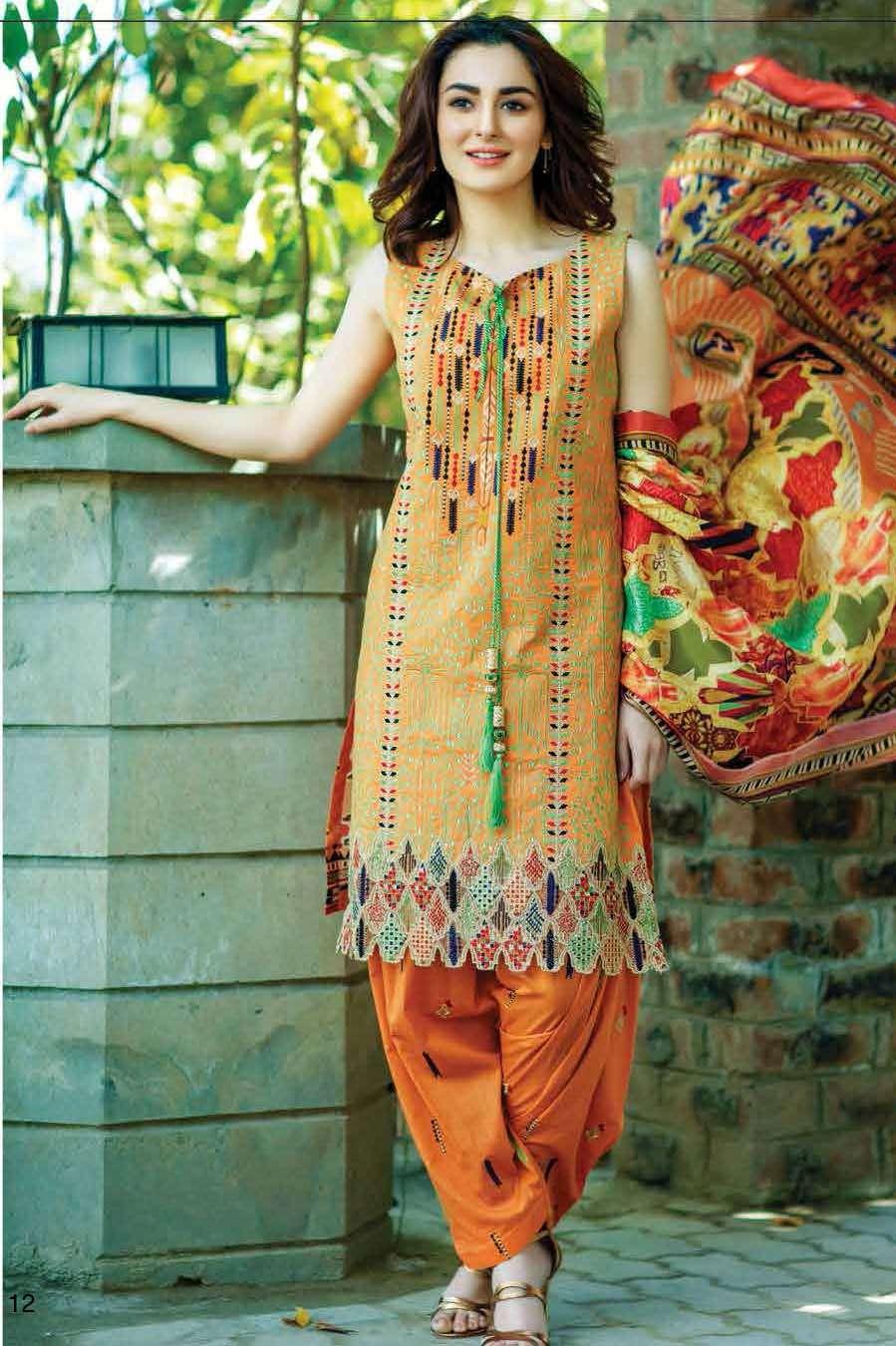 Firdous Fashion Embroidered Lawn Unstitched 3 Piece Suit FI17L 1A