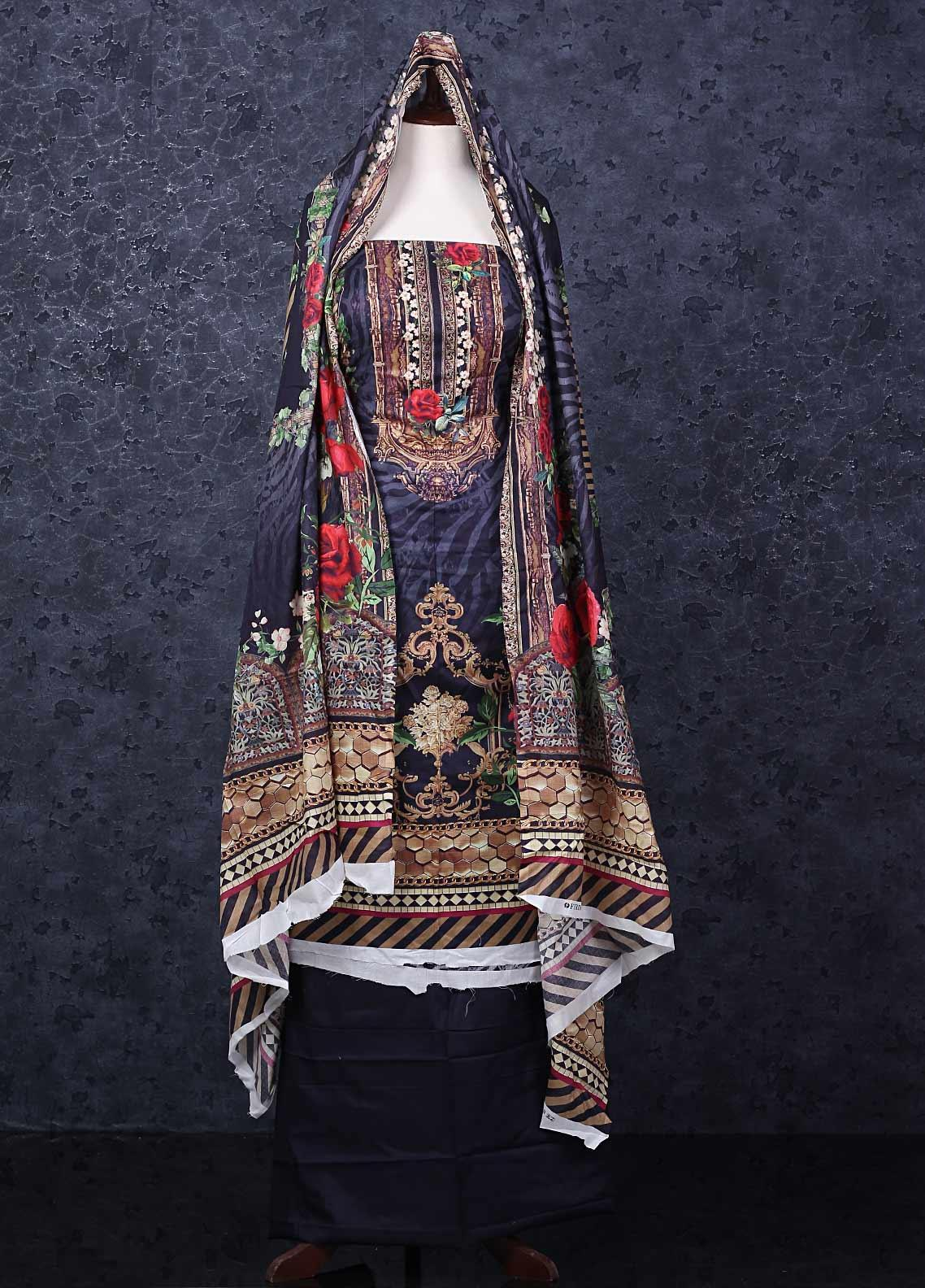 Firdous Fashion Printed Lawn Unstitched 3 Piece Suit FR20D 1102B - Spring / Summer Collection