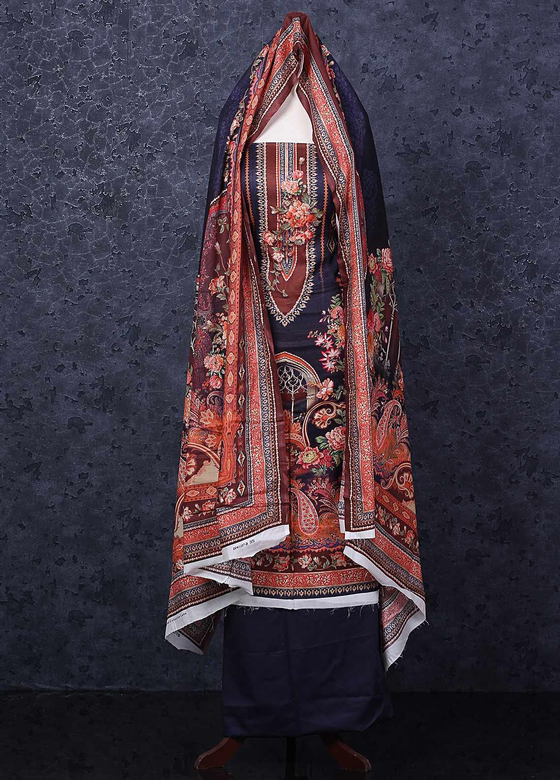 Firdous Fashion Printed Lawn Unstitched 3 Piece Suit FR20D 1107B - Spring / Summer Collection