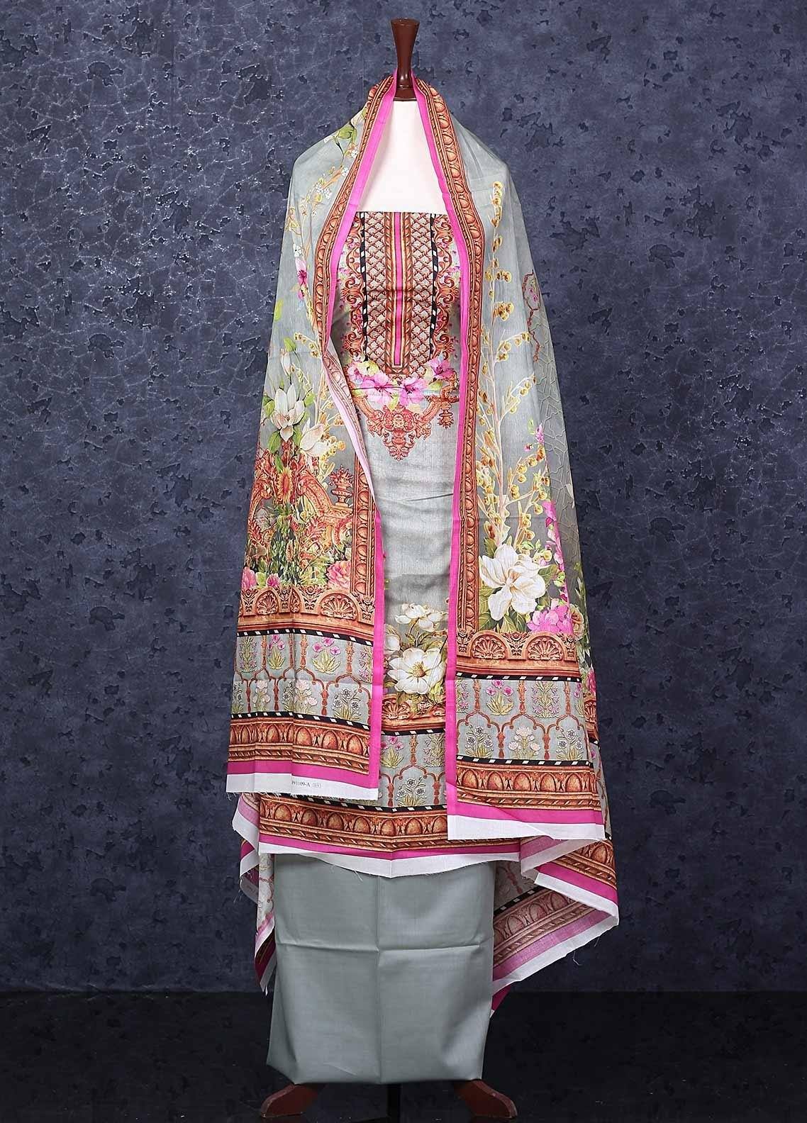 Firdous Fashion Printed Lawn Unstitched 3 Piece Suit FR20D 1109A - Spring / Summer Collection