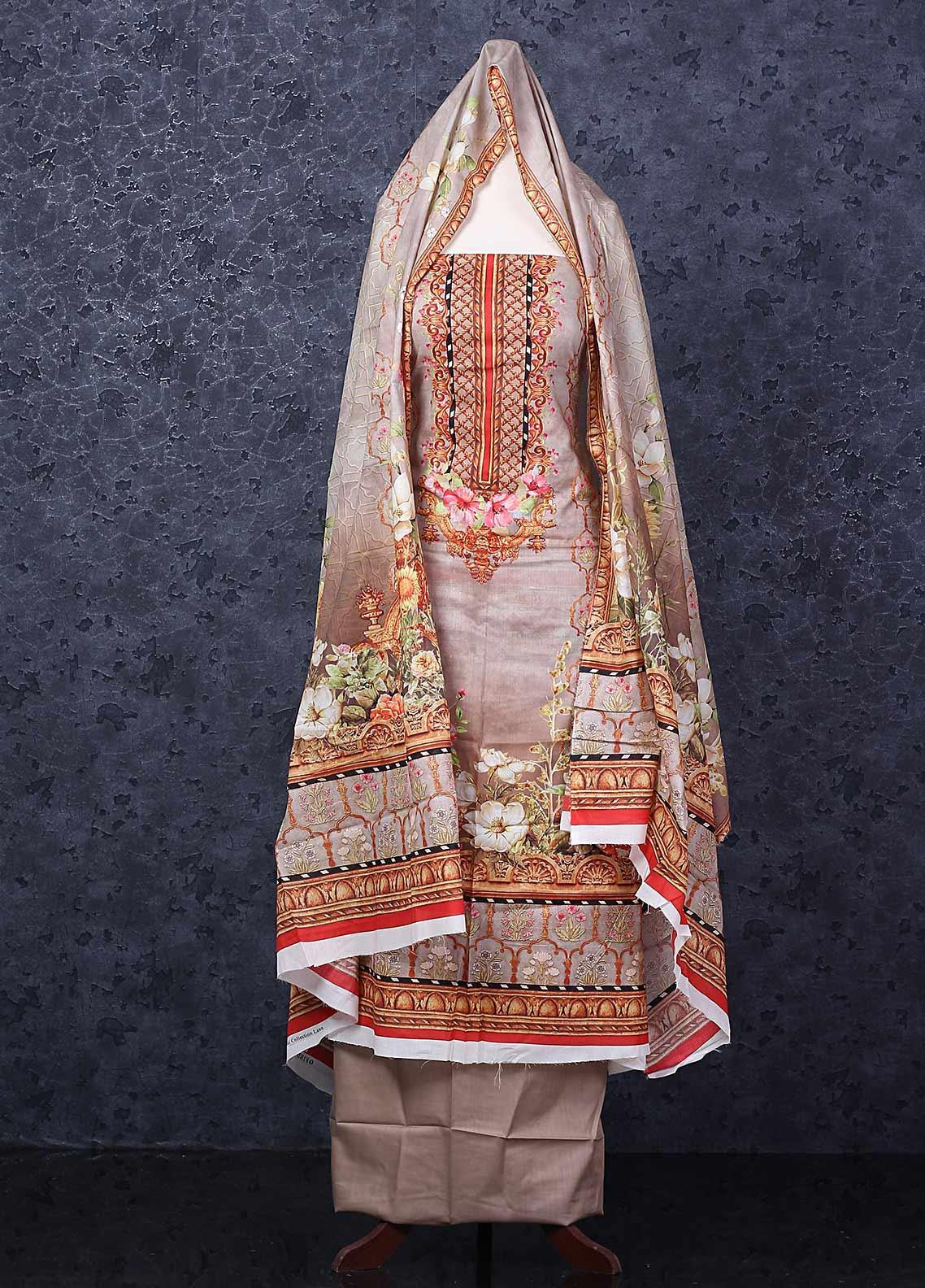 Firdous Fashion Printed Lawn Unstitched 3 Piece Suit FR20D 1109B - Spring / Summer Collection