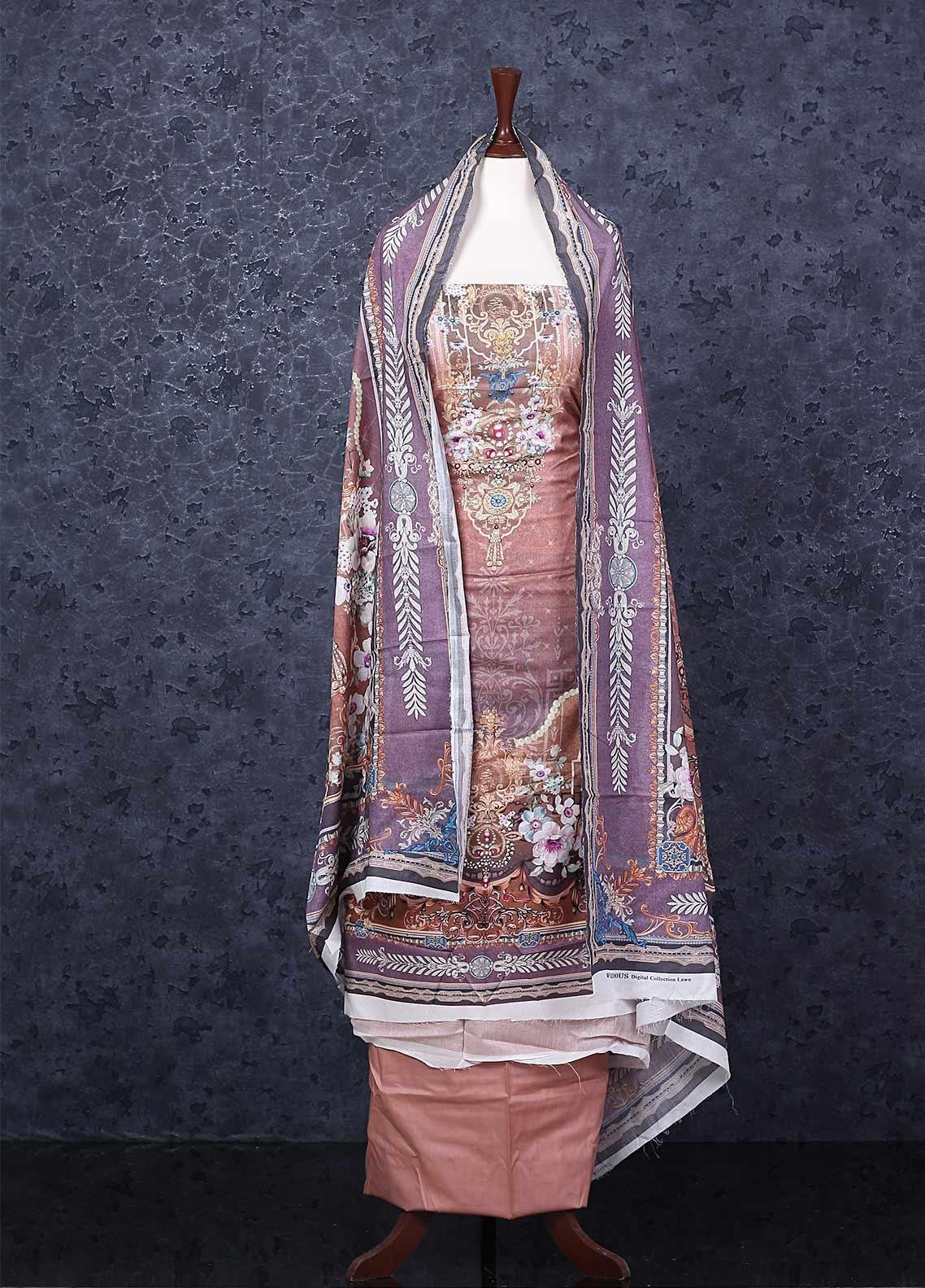 Firdous Fashion Printed Lawn Unstitched 3 Piece Suit FR20D 11120A - Spring / Summer Collection