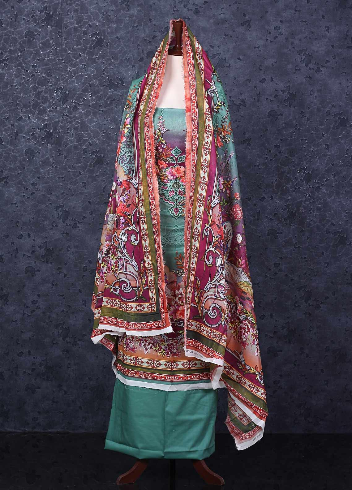 Firdous Fashion Printed Lawn Unstitched 3 Piece Suit FR20D 1112B - Spring / Summer Collection