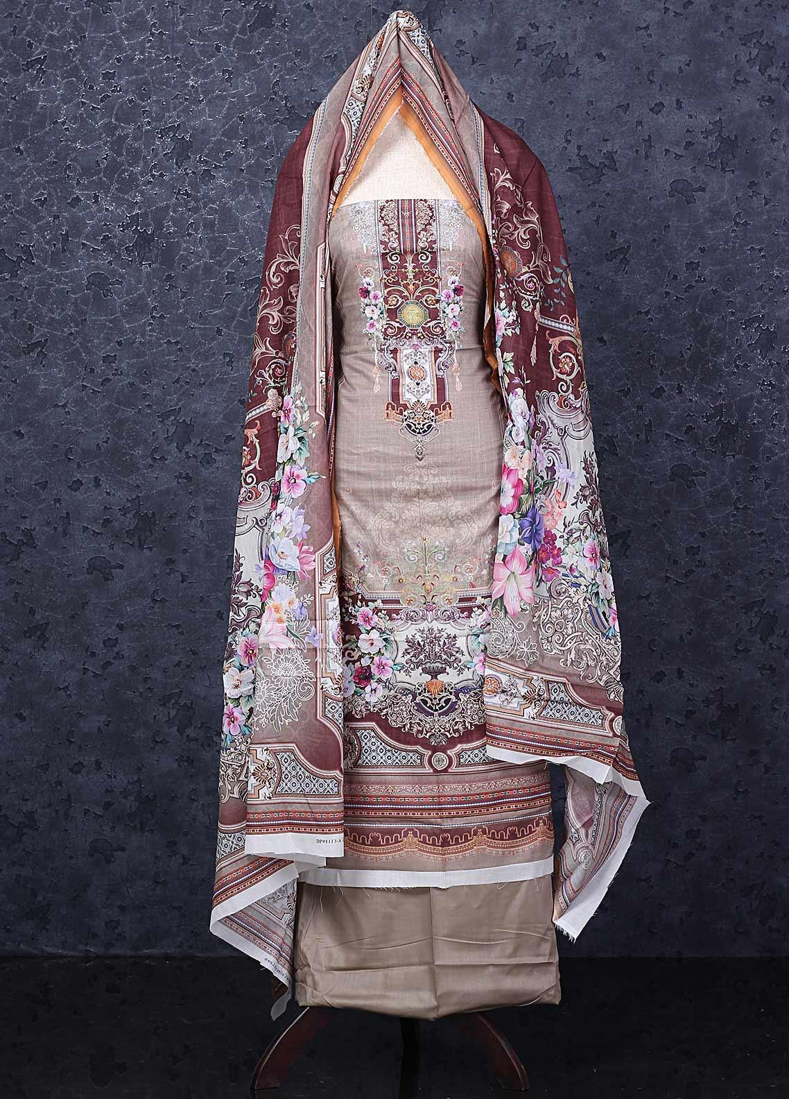Firdous Fashion Printed Lawn Unstitched 3 Piece Suit FR20D 1113A - Spring / Summer Collection