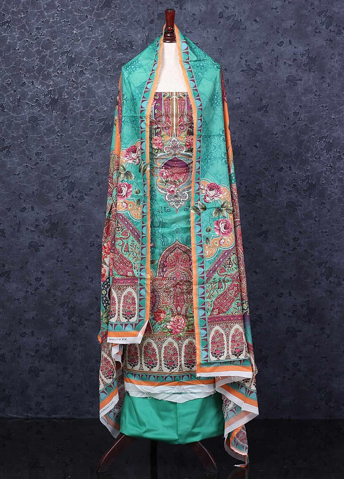 Firdous Fashion Printed Lawn Unstitched 3 Piece Suit FR20D 1117B - Spring / Summer Collection