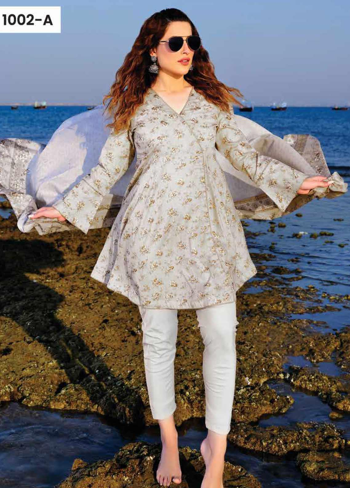 Five Star Printed Lawn Unstitched 3 Piece Suit FS20C 1002A - Spring / Summer Collection