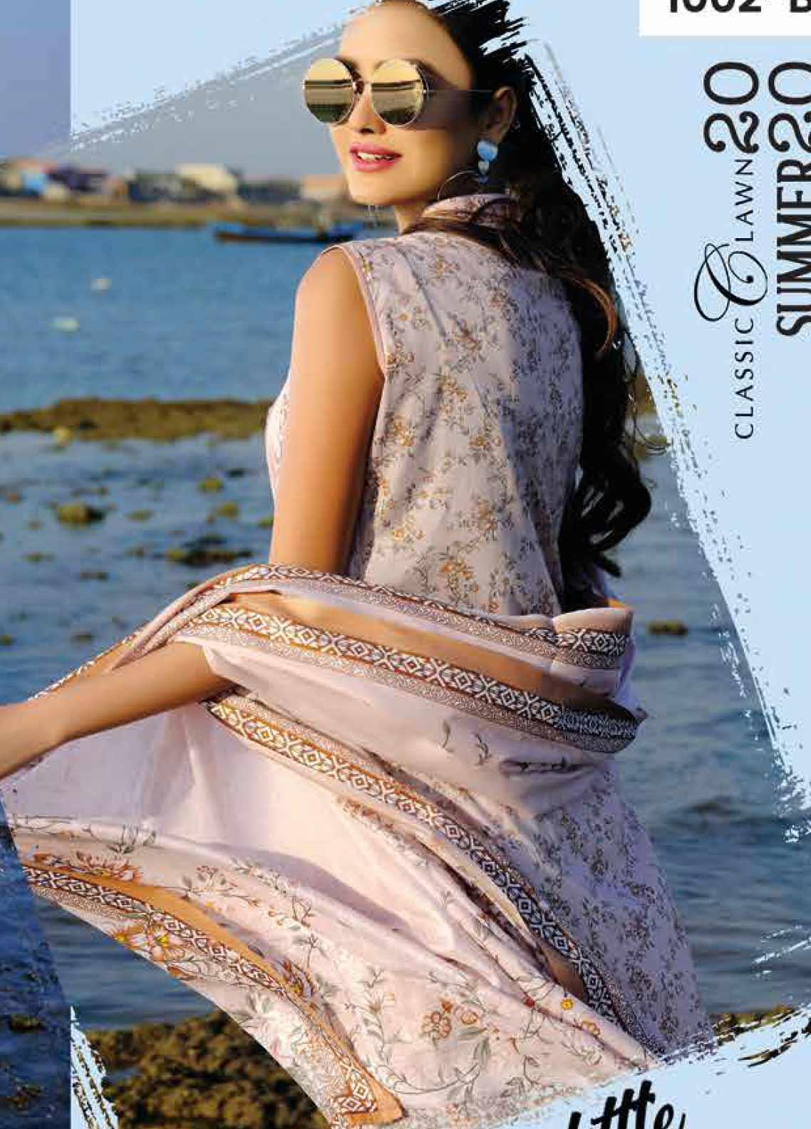 Five Star Printed Lawn Unstitched 3 Piece Suit FS20C 1002B - Spring / Summer Collection