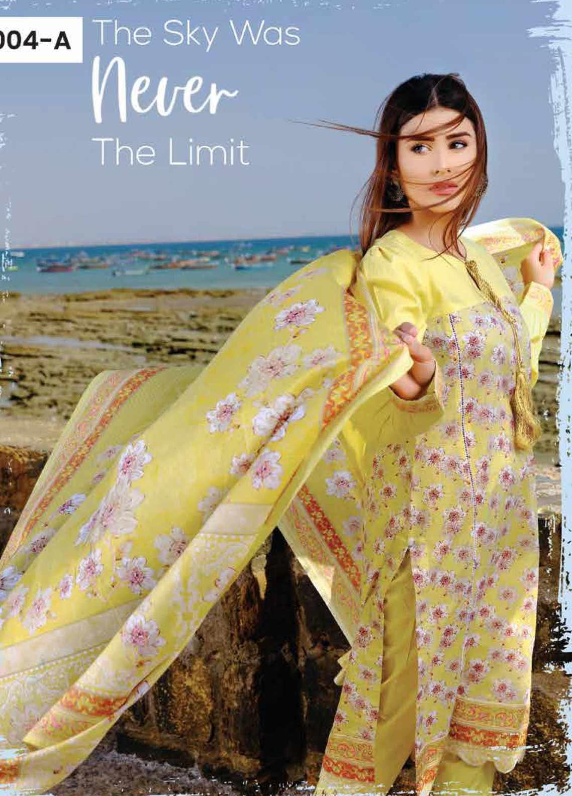 Five Star Printed Lawn Unstitched 3 Piece Suit FS20C 1004A - Spring / Summer Collection